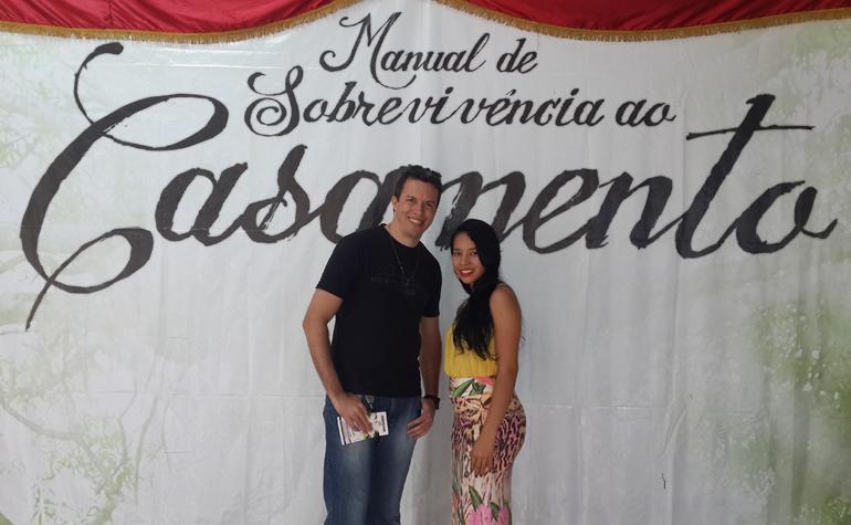 Guilherme Marinho e Joyce Karina.