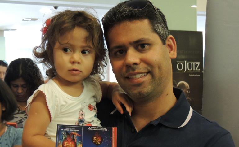 Rafael Leite e sua filha