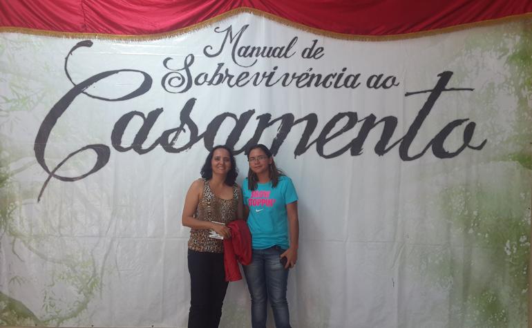 Elaine Cristina e Magdala Paz.