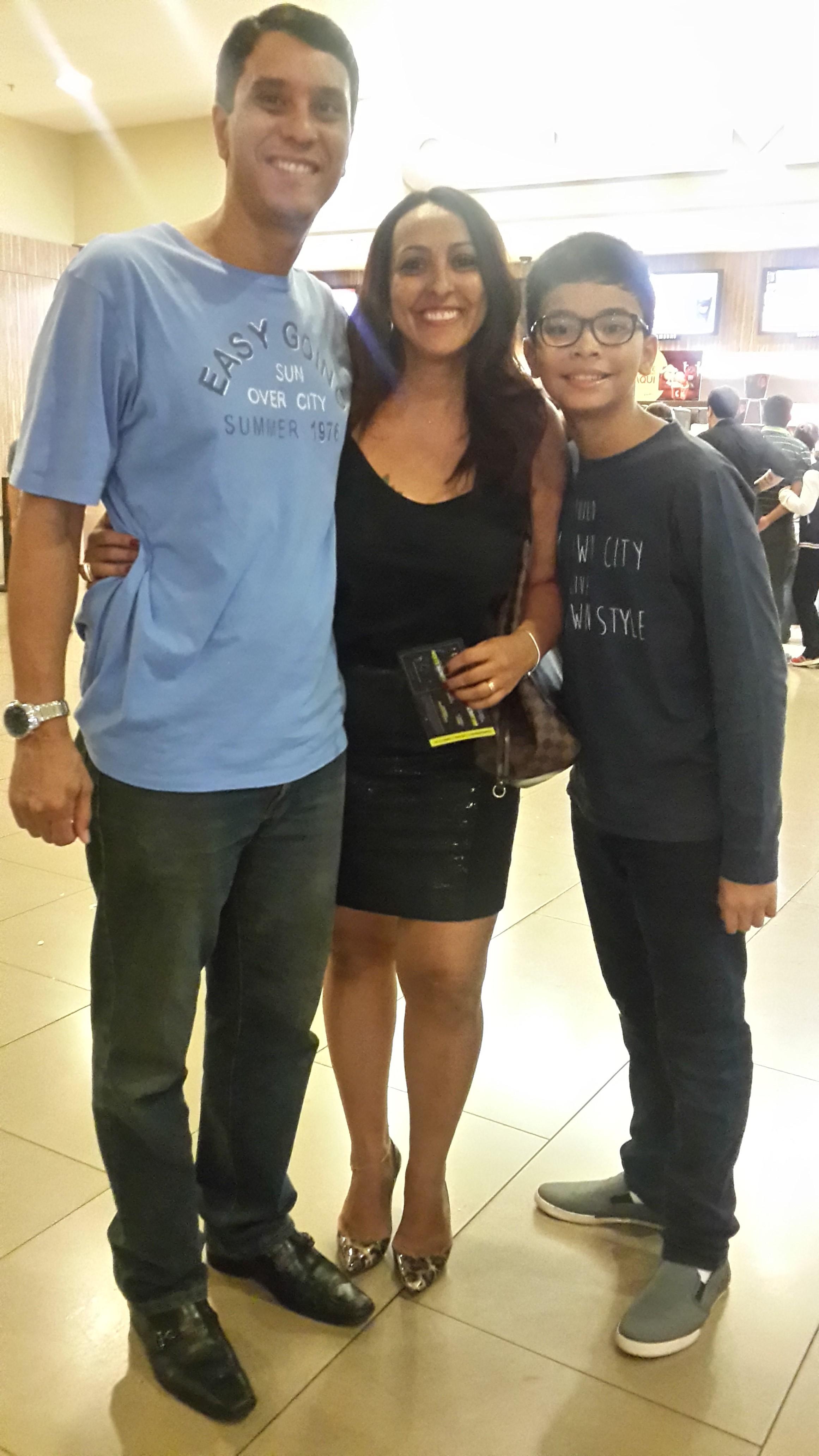 Marcus Moreira, Claudia Reis e Vinicius Moreira